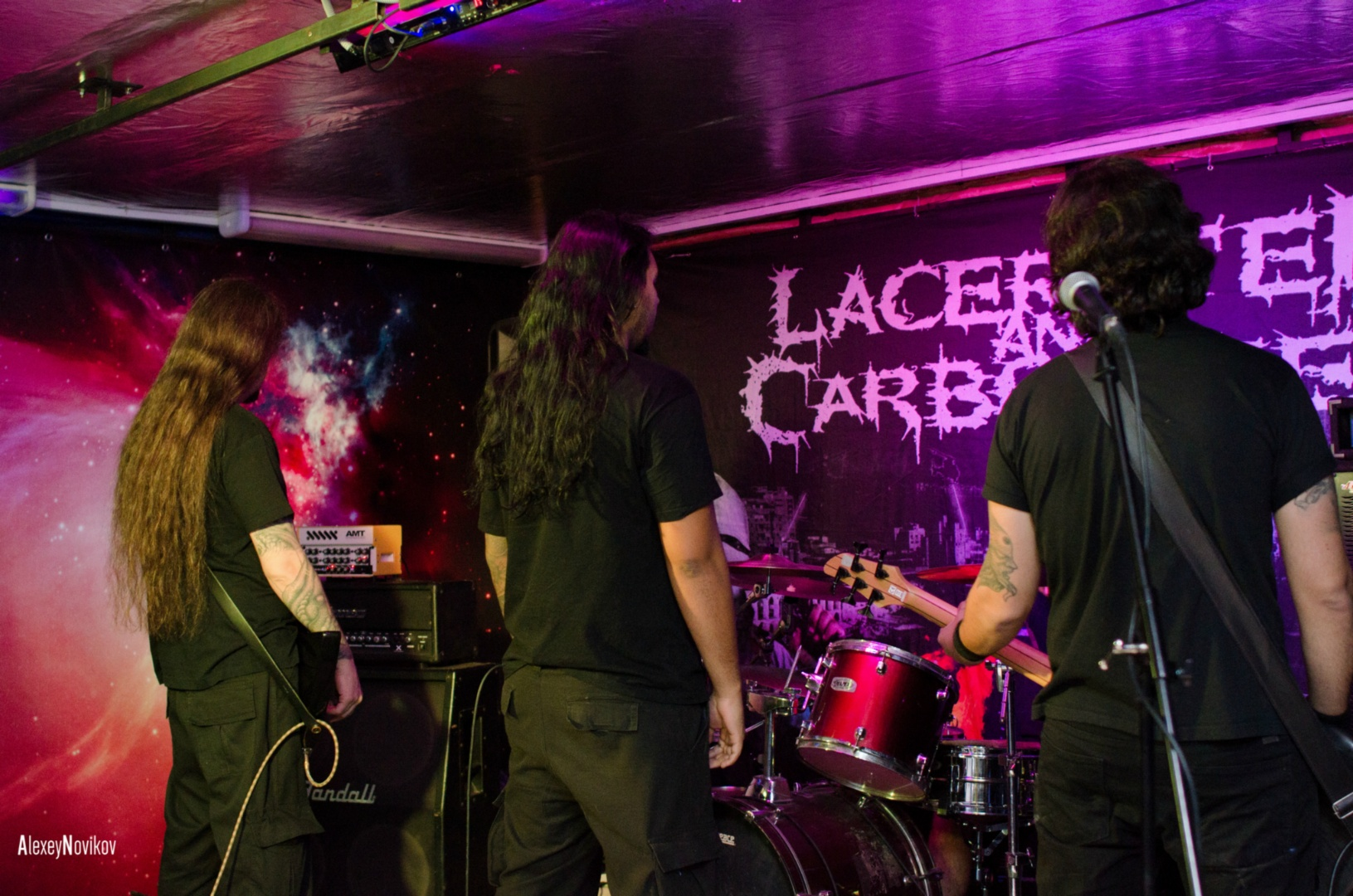 LACERATED AND CARBONIZED